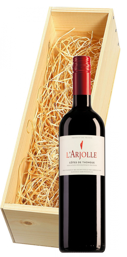Wijnkist met Domaine de l'Arjolle rood