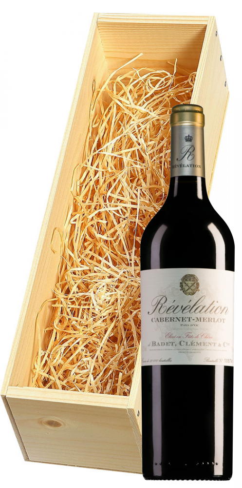 Wijnkist met Révélation Pays d'Oc Cabernet-Merlot