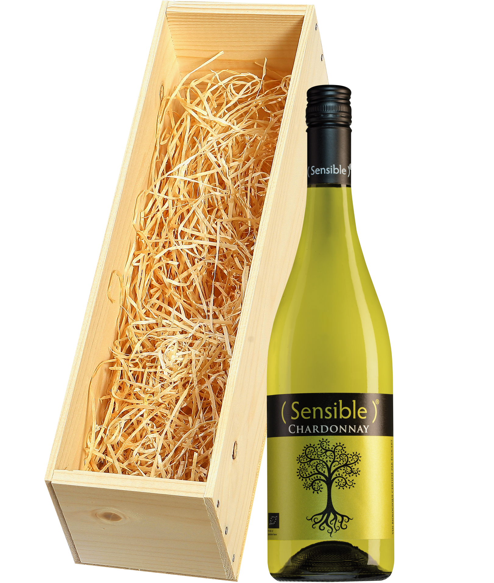 Wijnkist met Sensible Pays d'Oc Chardonnay