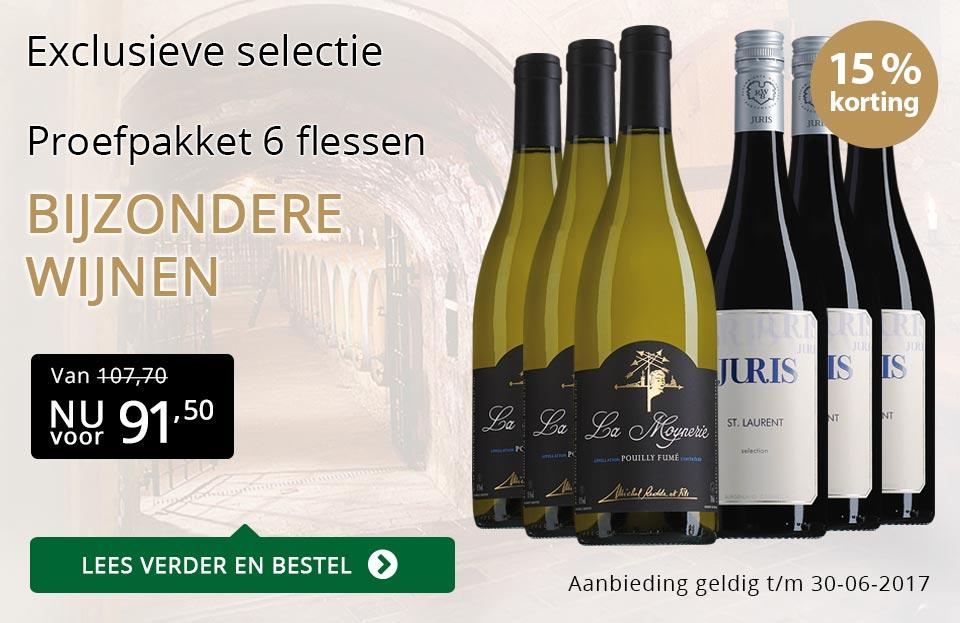 Proefpakket bijzondere wijnen juni (91,50) - goud/zwart