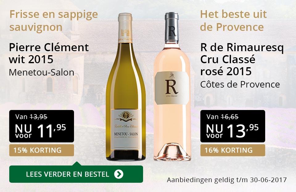 Aanbevolen wijnen juni - goud/zwart