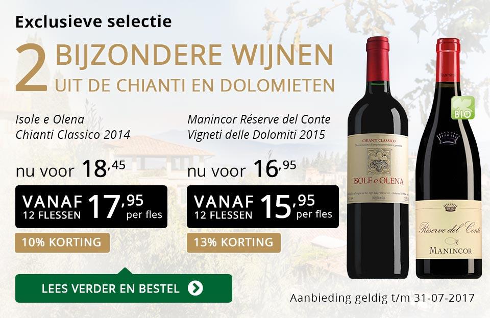 Exclusieve wijnen juli 2017 - goud/zwart