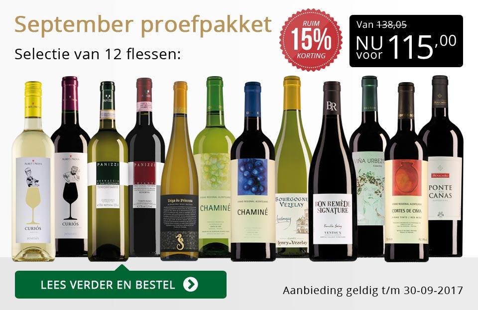 Proefpakket wijnbericht september 2017 (115,00) - goud/zwart