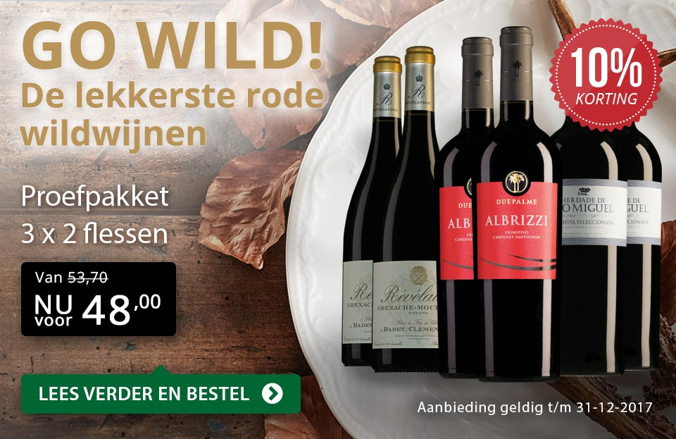 Proefpakket de lekkerste rode wildwijnen - goud/zwart