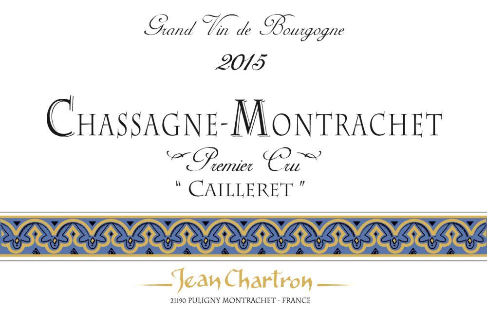 Jean Chartron Chassagne-Montrachet Premier Cru Cailleret 2015
