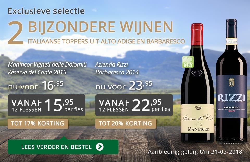 Exclusieve wijnen maart 2018 - grijs/goud