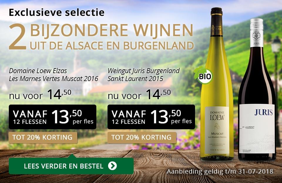 Exclusieve wijnen juli 2018 - goud/zwart