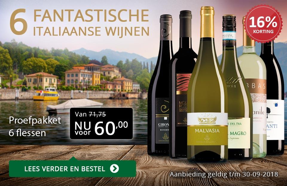 Proefpakket Italiaanse wijnen (60,00) - goud/zwart