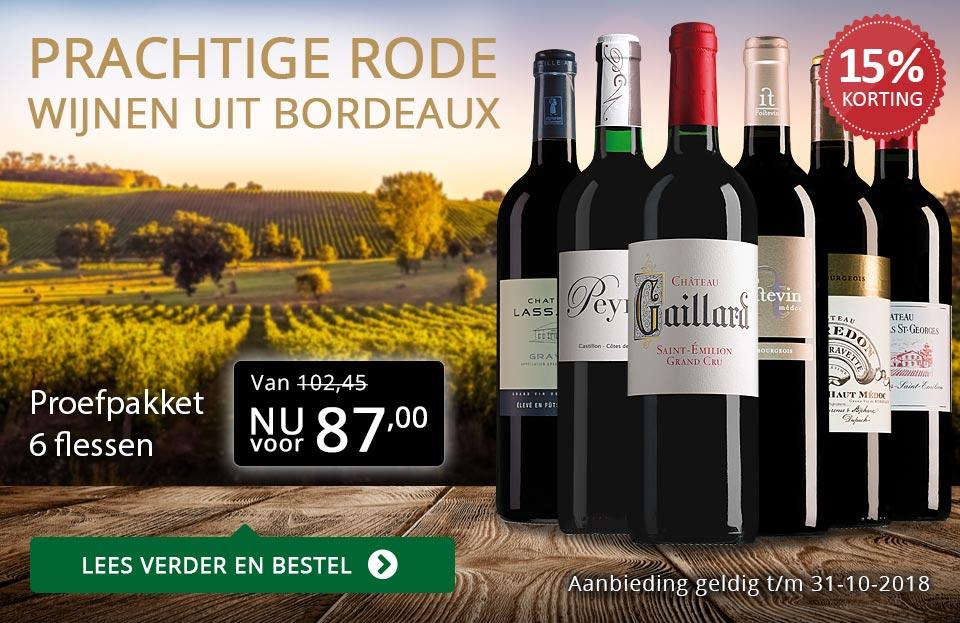 Proefpakket rode Bordeaux (87,00)- goud/zwart
