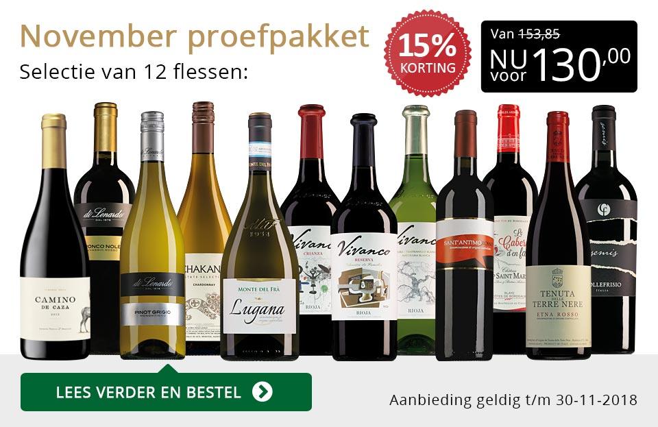 Proefpakket wijnbericht november 2018 (130,00) - goud/zwart