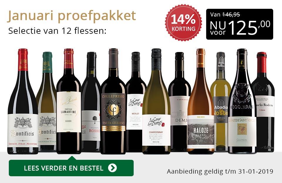 Proefpakket wijnbericht januari 2019 (125,00) - goud/zwart