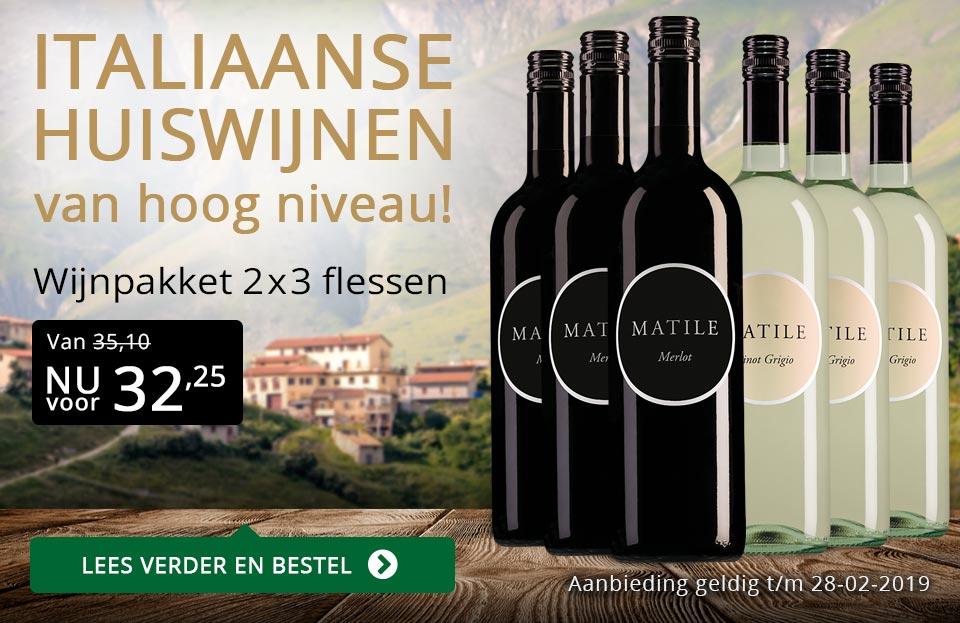 Wijnpakket Matile februari 2019 - goud/zwart