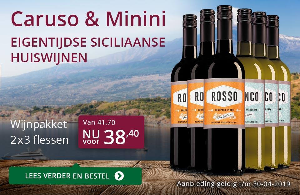 Wijnpakket Caruso & Mininiapril 2019 (38,40)- paars