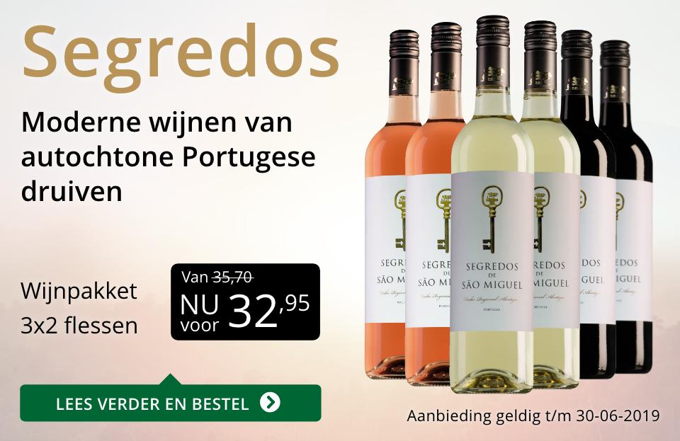 Wijnpakket Segredos(32,95) - goud/zwart