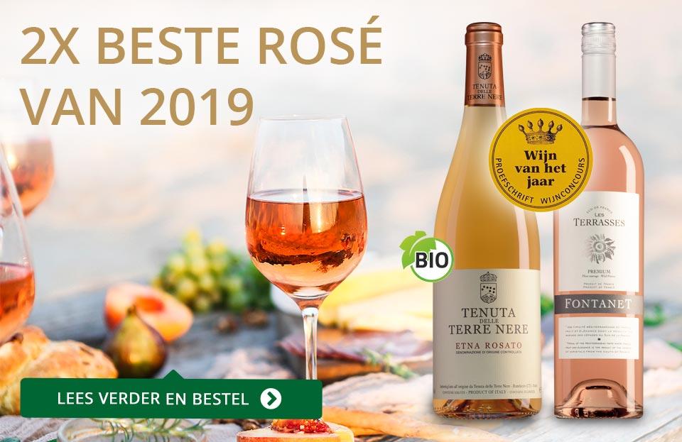 Proefschrift Wijnconcours 2019: Rosé van het Jaar - goud/zwart