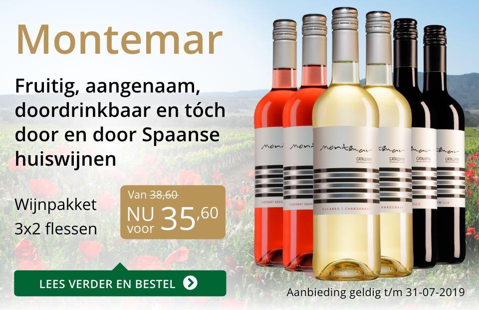Wijnpakket Montemar (32,60)- goud/zwart