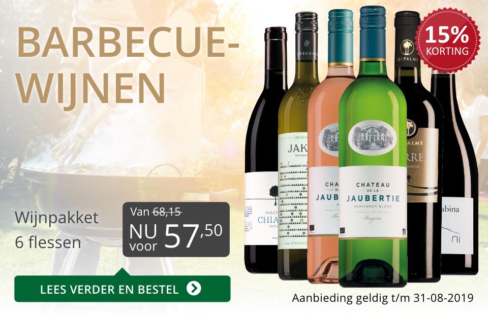 Wijnspecial Wijnpakket barbecuewijnen (57,50) - grijs/goud