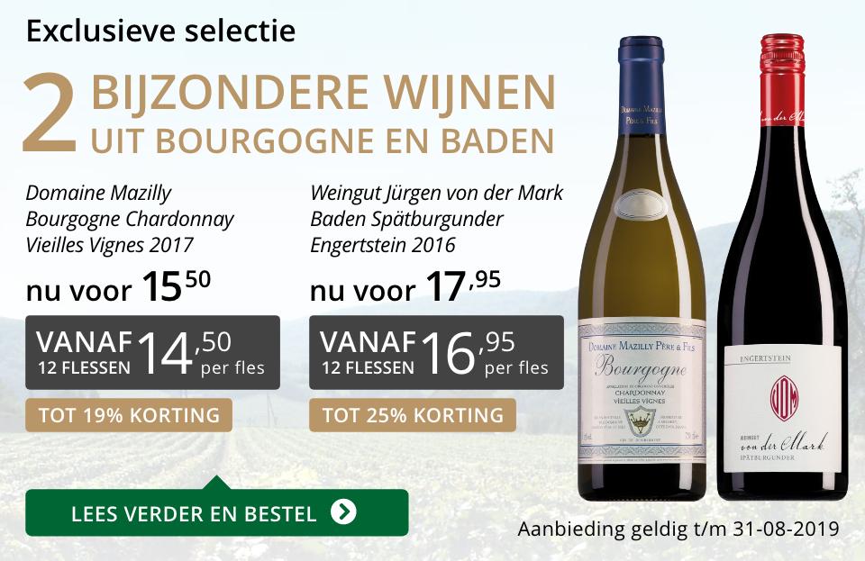 Twee bijzondere wijnen augustus 2019 - grijs/goud