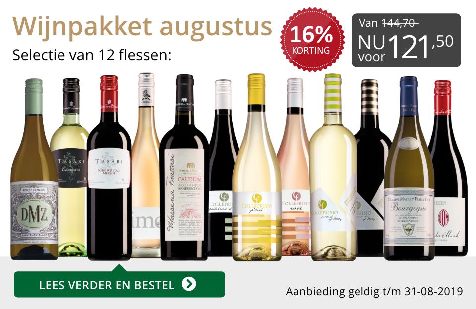 Wijnpakket wijnbericht augustus 2019 (121,50) - grijs/goud