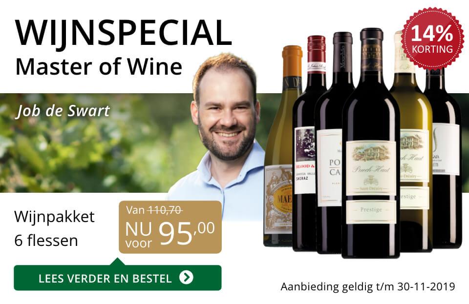 Wijnspecial Wijnpakket Master of Wine - goud/zwart