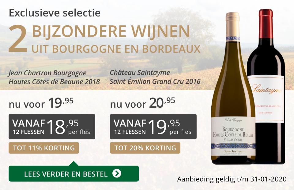 Twee bijzondere wijnen januari 2020 - grijs/goud