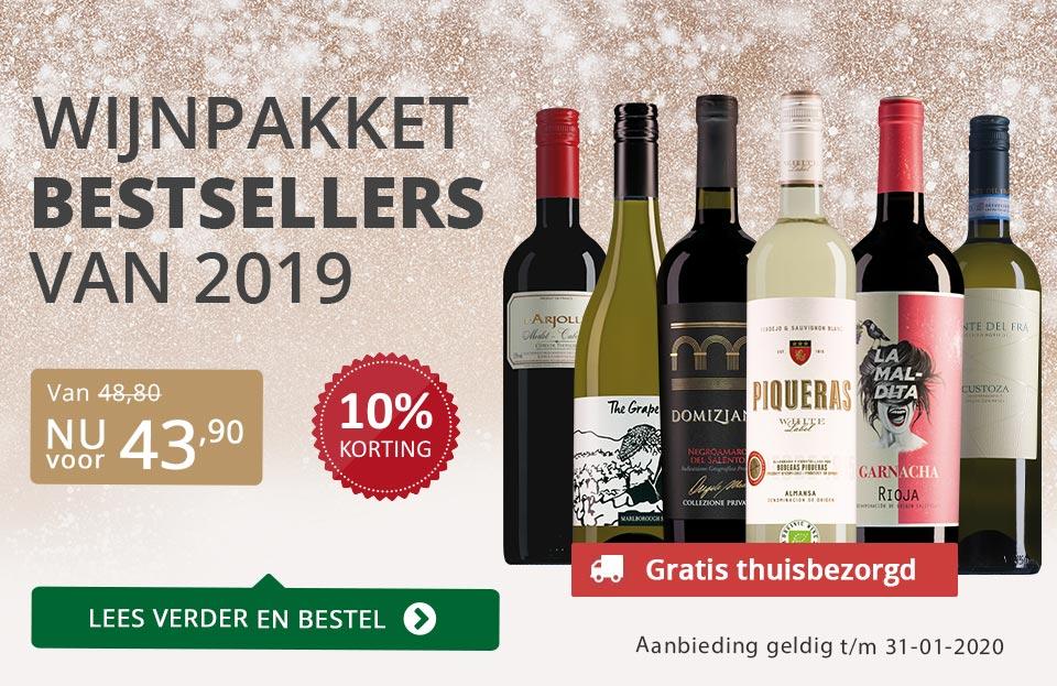 Wijnpakket bestsellers 2019 - Grijs/Goud
