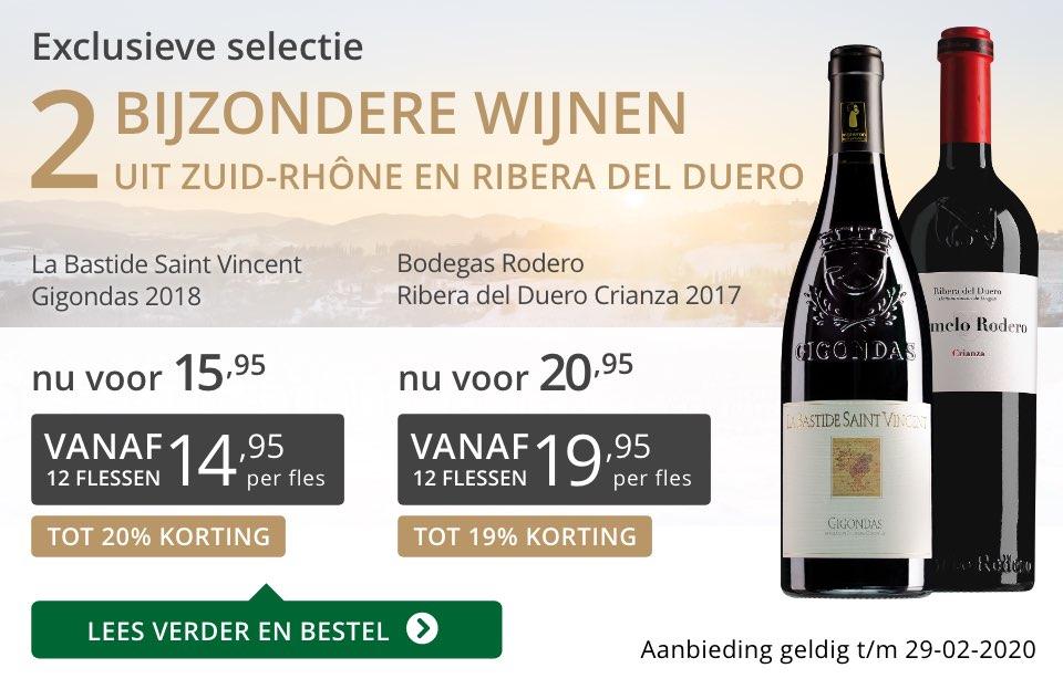 Twee bijzondere wijnen februari 2020 - grijs/goud