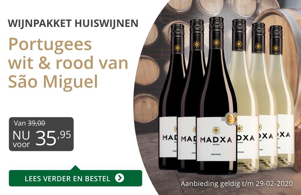 Wijnpakket Portugese huiswijnen(35,95) - grijs/goud