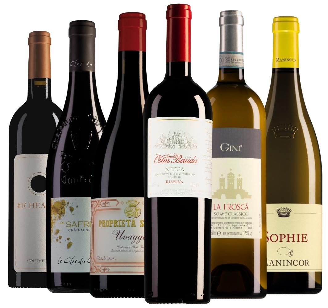 Wijnpakket luxe wijnen (6 flessen)