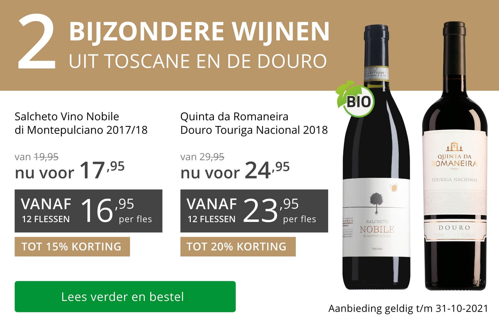 Twee bijzondere wijnen oktober 2021 - grijs/goud
